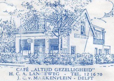 Oude tekening J.C. van Markenplein 10, Delft
